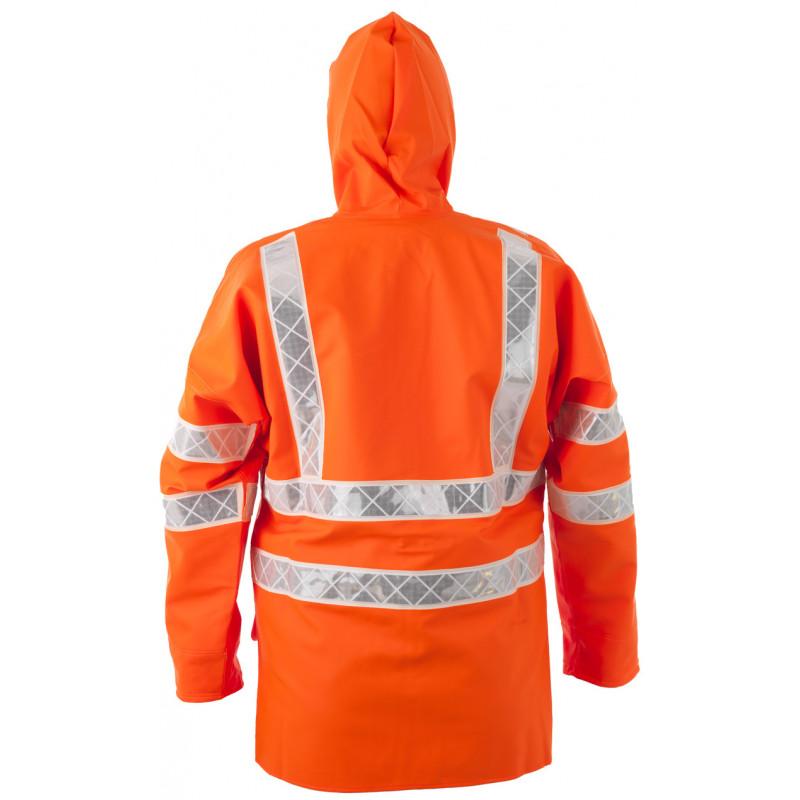 Veste ciré PARAFLASH orange HV EN ISO 20471-Dos